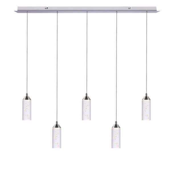Ardrie 5-Light Kitchen Island Linear LED Pendant by Wrought Studio™