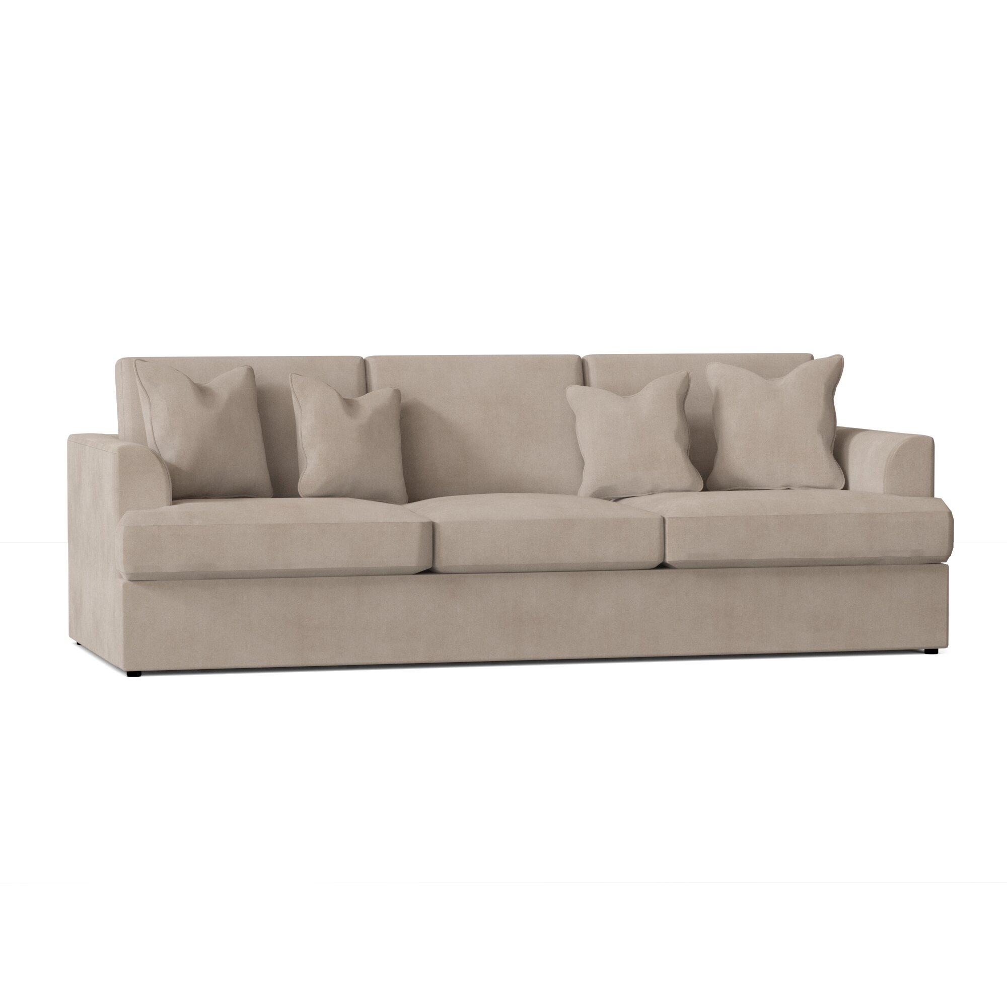 Wayfair Custom Upholstery Aubree 96 Recessed Arm Sofa Reviews Wayfair