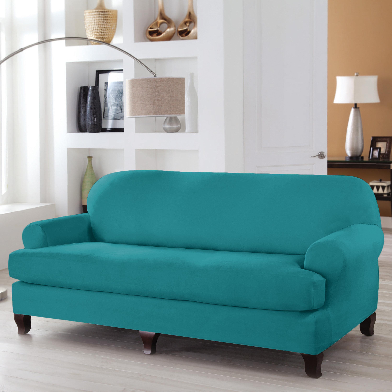 Astonishing Serta Stretch Fit T Cushion Sofa Slipcover Beatyapartments Chair Design Images Beatyapartmentscom