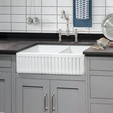Sutton Place 33 L x 18 W Double Basin Farmhouse Kitchen Sink with Grid and Strainer