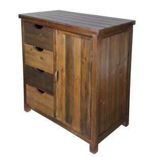 Wooden 4 Drawer and Side Door Storage with 1 Shelf Accent Cabinet by Cheungs