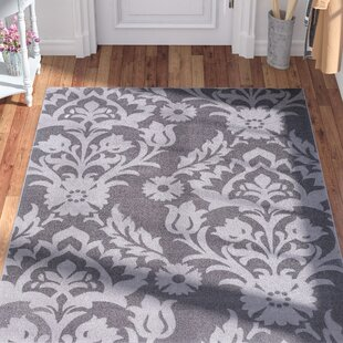 Moreau Damask Gray Area Rug by Ophelia & Co.