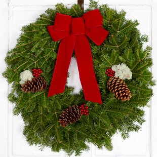 fresh 22 acadia christmas wreath with bow