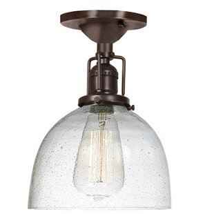 Shumway 1-Light Semi-Flush Mount by Breakwater Bay