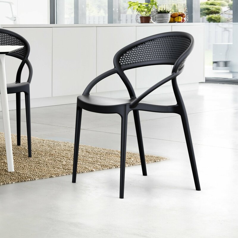 Wrought Studio Auman Stacking Patio Dining Chair (Set of 2)