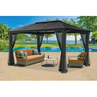 Paragon-Outdoor Santana 10.5 Ft. W x 16 Ft. D Aluminum Patio Gazebo