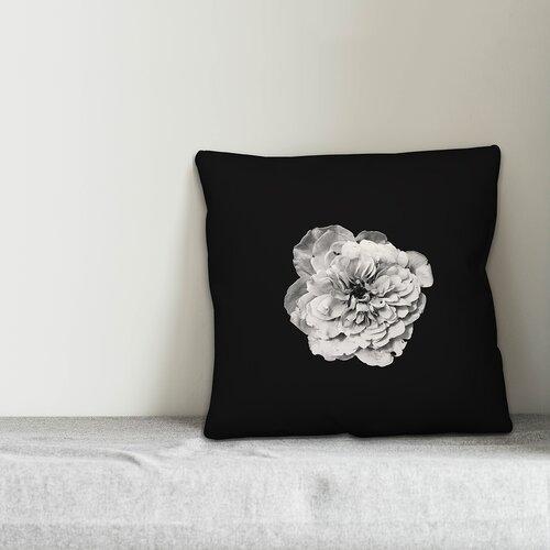 Ebern Designs Belle Flower On Background Throw Pillow Wayfair