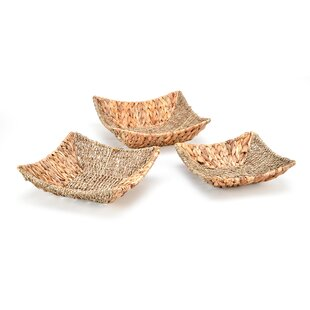 Hyacinth and Seagrass 3 Piece Basket Set