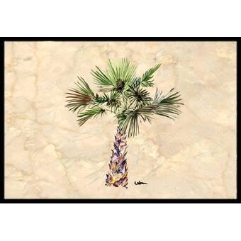 Highland Dunes Lococo Big Palm 30 X 50 Non Slip Indoor Outdoor Door Mat Wayfair