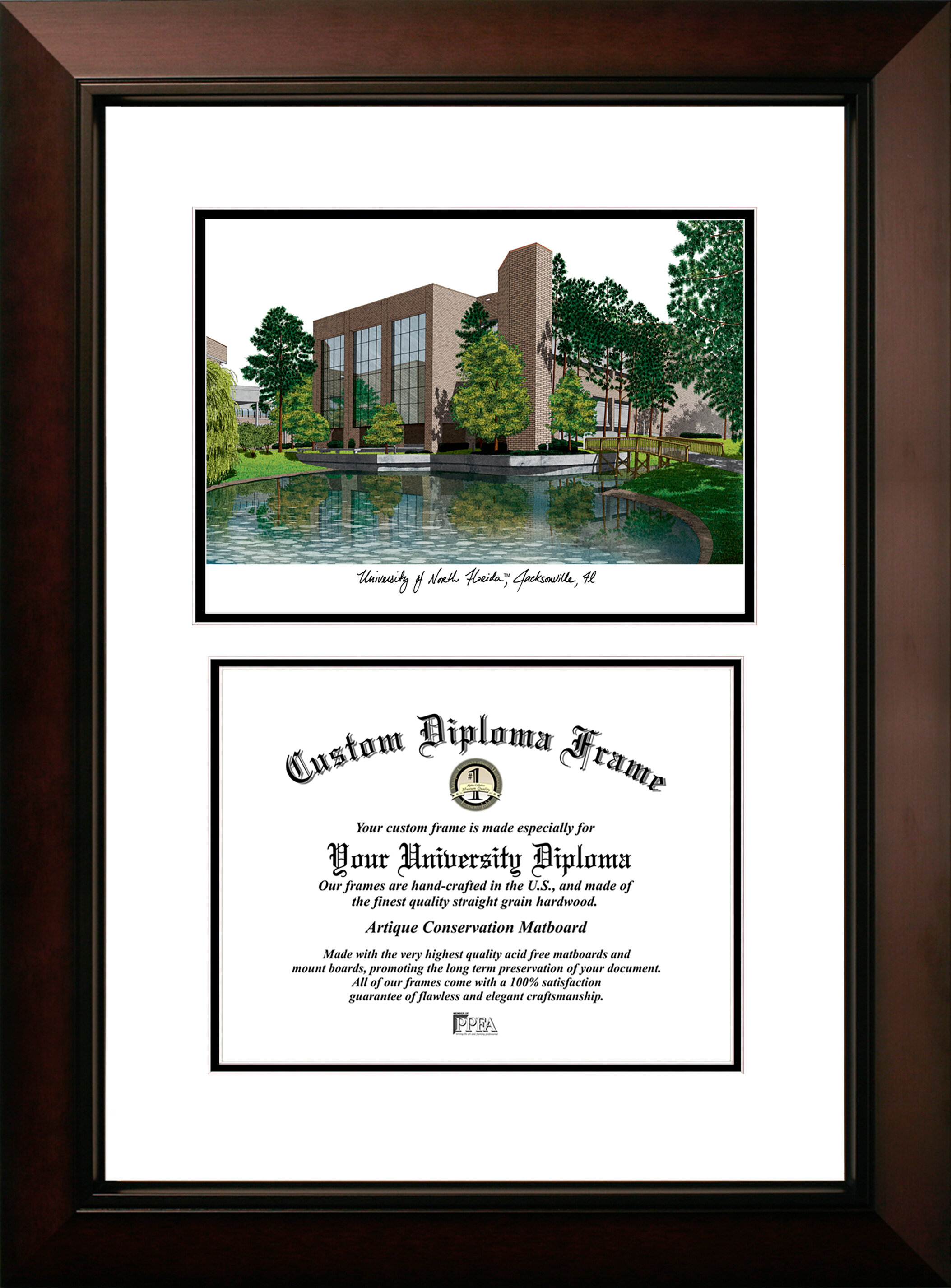 Campus Images Ncaa University Of North Florida Legacy Scholar Diploma Picture Framed Wayfair