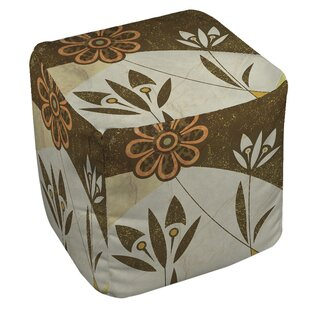 Graphic Garden Savannah Pouf by Manual Woodworkers & Weavers