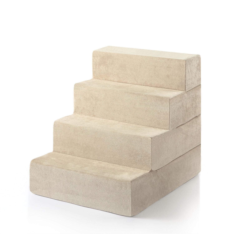 Zinus Comfort Foam 4 Step Pet Stair U0026 Reviews | Wayfair