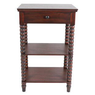 Jolie Spindle End Table with Storage