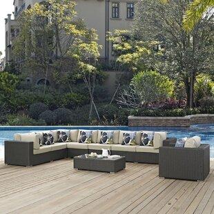 Tripp 7 Piece Sunbrella Sectional Sofa with Cushions