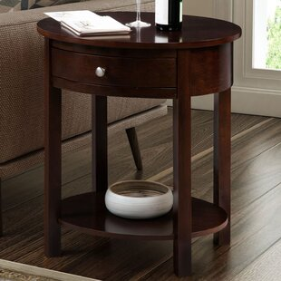 Moravian Classic Accents Oval End Table with Storage