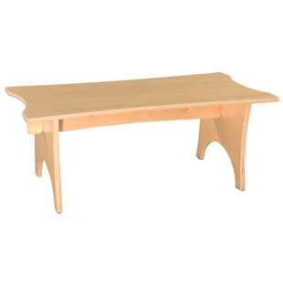 Scalloped Straight Wood Bench