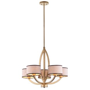 Comparison Talia 5-Light Shaded Chandelier By Safavieh