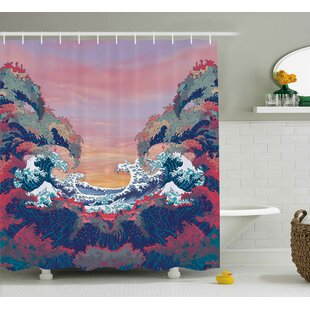 Affordable Price Ocean Colorful Fantasy Sealife Shower Curtain ByEast Urban Home