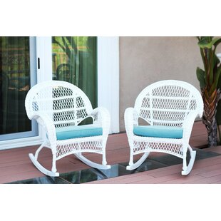 White Wicker Rocking Chair Set Wayfair