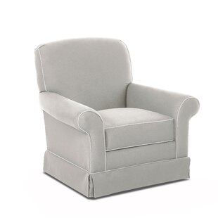 Wayfair Custom Upholstery™ Triton Swivel Glider with Contrasting Welt