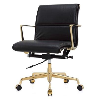 meelano italian leather office chair reviews wayfair