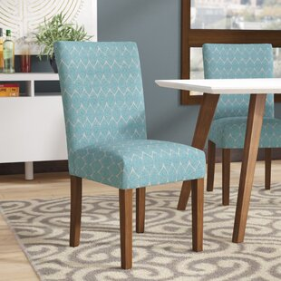 Inexpensive Adrien Haverstraw Textured Upholstered Dining Chair (Set of 2) by Mistana Reviews (2019) & Buyer's Guide