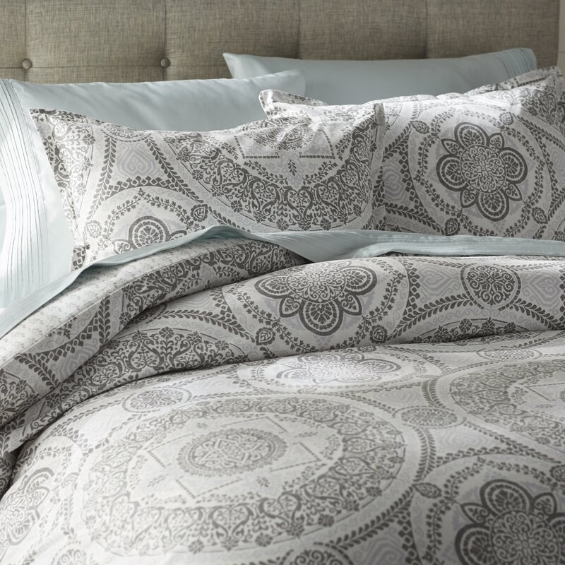 Apollo Medallion 150 Thread Count 100 Cotton Reversible Duvet Set