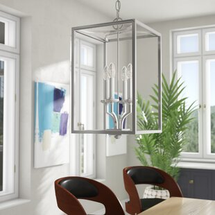 Mette 4-Light Square/Rectangle Pendant by Brayden Studio