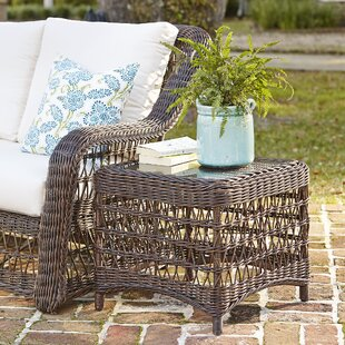 Elyse Wicker Side Table by Bay Isle Home New