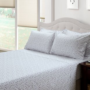 Ditsy Floral Lily 300 Thread Count Cotton 3 Piece Sheet Set