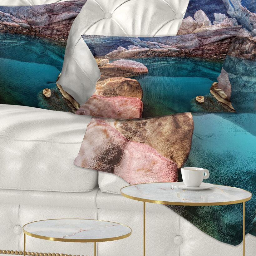 East Urban Home Landscape Deep Glacier Cave Lumbar Pillow Wayfair