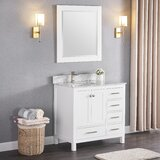 Exquisite Home 36 Single Bathroom Vanity Set with Mirror by Charlton Home