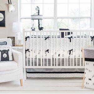 Little Black Bear 3 Piece Crib Bedding Set
