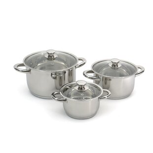 Vision 6 Piece Premium Stainless Steel Cookware Set