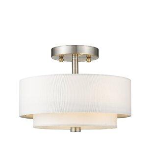 Brittnie 2-Light Semi-Flush Mount by Zipcode Design
