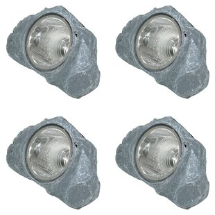 Buy luxury Etowah Solar-Powered Outdoor Rock Garden 1 Light Flood/Spot Light By Freeport Park