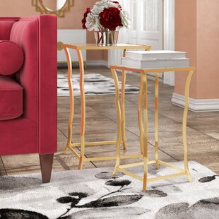 Top Reviews Bridgwater ly-Inspired 2 Piece Nesting Table by Everly Quinn