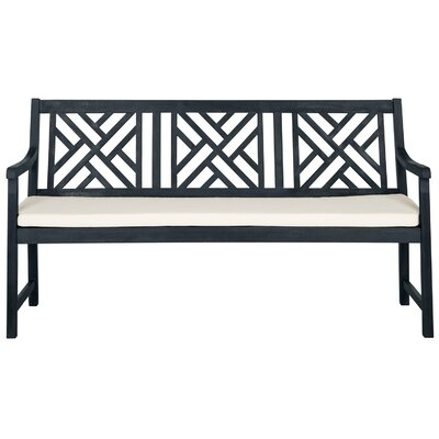 Stanwich Acacia Garden Bench Color: Dark Slate Gray by Alcott Hill
