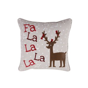 Reindeer Holiday Pillow Protector by Affluence Home Fashions
