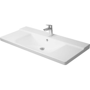 Reviews P3 Comforts Ceramic Rectangular Vessel Bathroom Sink with Overflow By Duravit