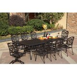 Battista Traditional 9 Piece Dining Set with Cushions