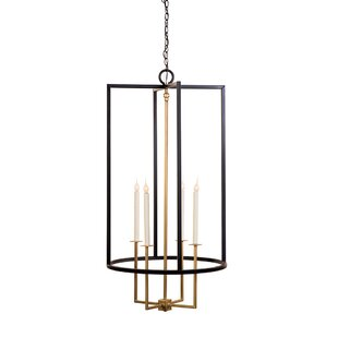 Drop 4-Light Geometric Chandelier by Lowcountry Originals