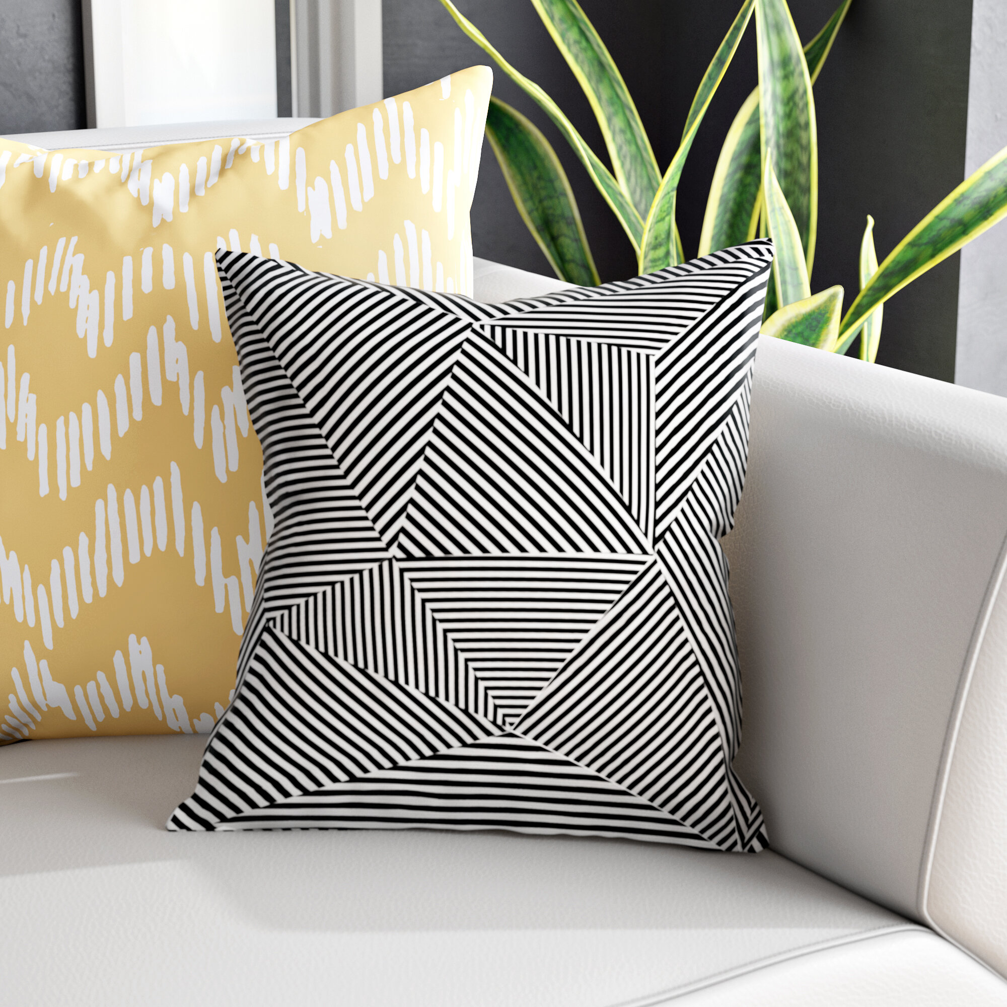 Wade Logan Corbin Outdoor Square Pillow Cover Insert Reviews Wayfair