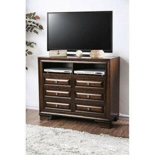 Bellamy Wooden Media 6 Drawer Standard Dresser/Chest