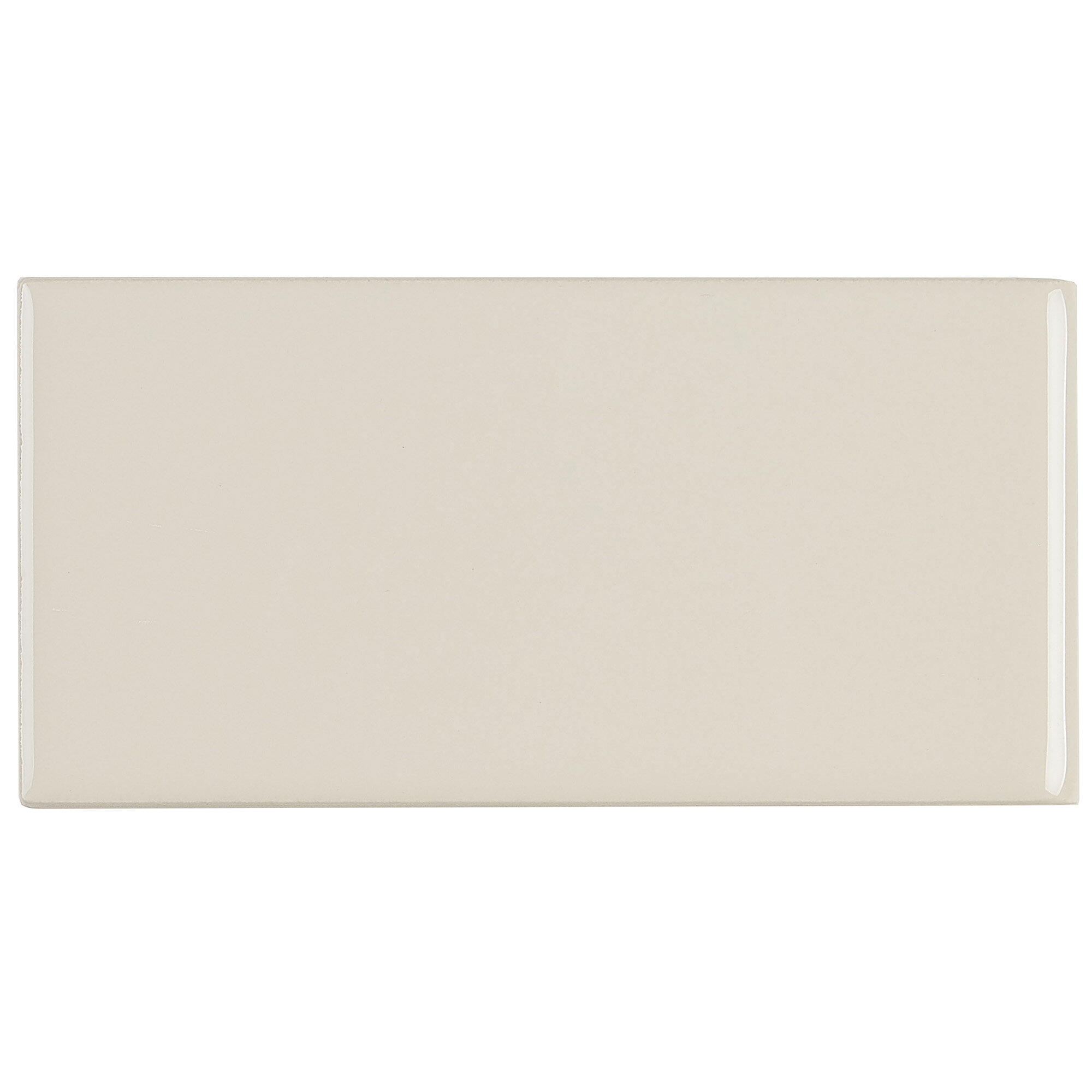 Itona Tile Guilford 6 X 3 Ceramic Bullnose Tile Trim In Almond Wayfair