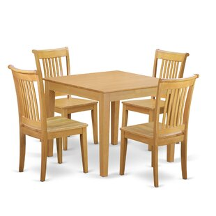 Cobleskill 5 Piece Breakfast Nook Solid W..