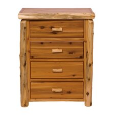 Premium Cedar 4 Drawer Lingerie Chest by Fireside Lodge