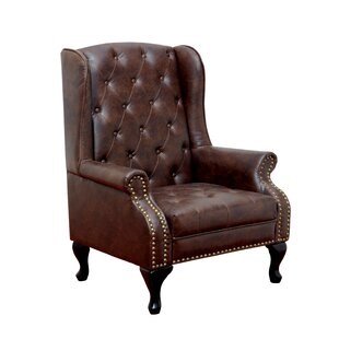 Barnett Wingback Chair by Hokk..