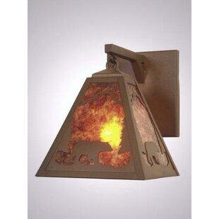 Steel Partners Bear Timber Ridge Hanging 1-Light Outdoor Wall Lantern