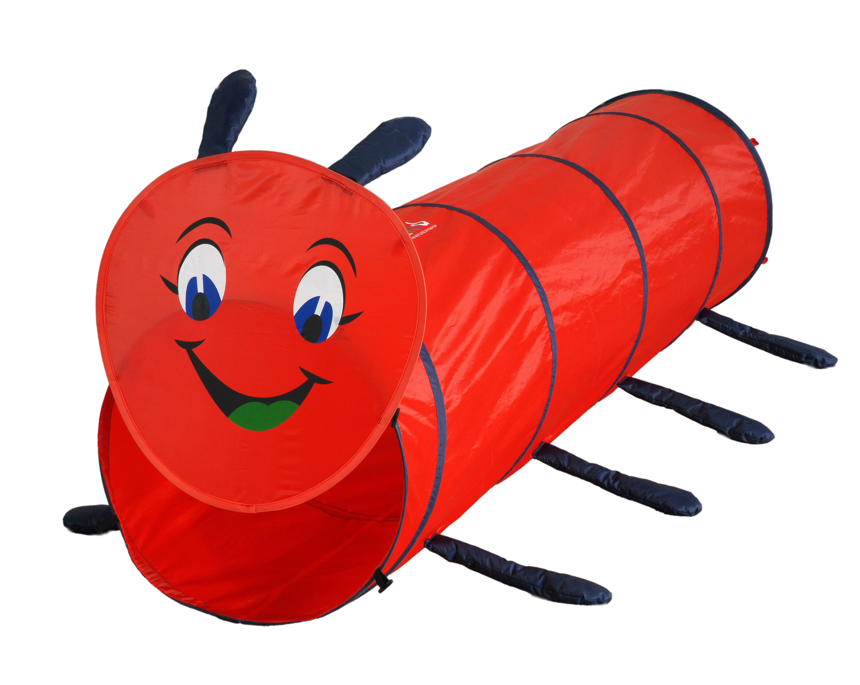 Gigatent Hide And Seek Caterpillar Play Tunnel With Carrying Bag